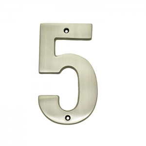 5″ Solid Brass Heavy Cast House Numbers