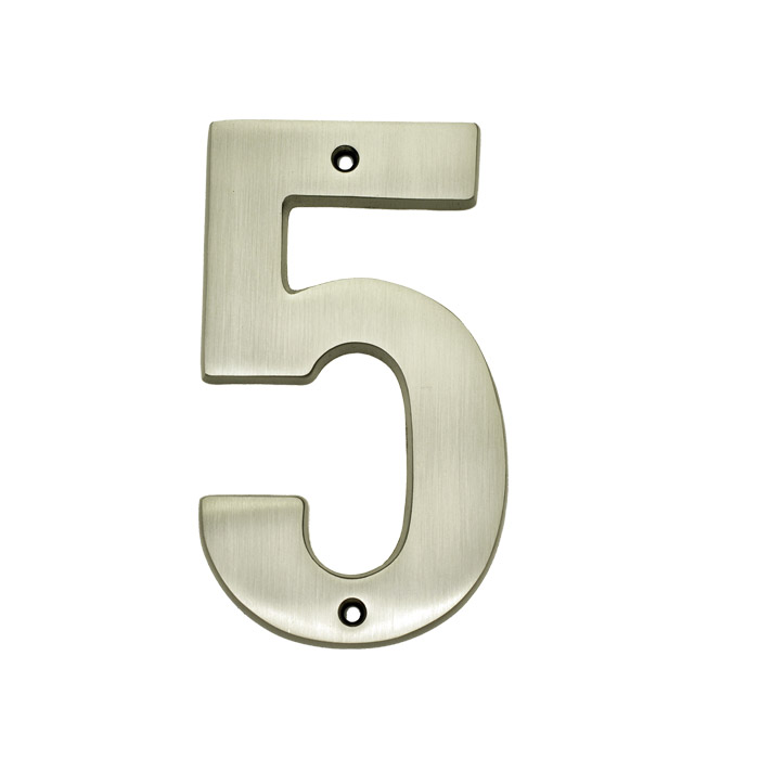 Exceptionnel 5u2033 Solid Brass Heavy Cast House Numbers