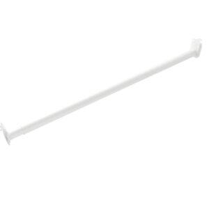 Steel Adjustable Closet Rod – White Powder-Coated